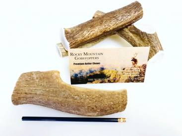LARGE-WHOLE Rocky Mountain Gobstoppers-Premium Elk Antler Dog Chews (By-the-Pound)