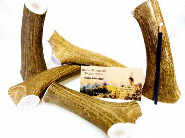 X-LARGE-WHOLE- Rocky Mountain Gobstoppers Premium Elk Antler Dog Chews By-the-Pound
